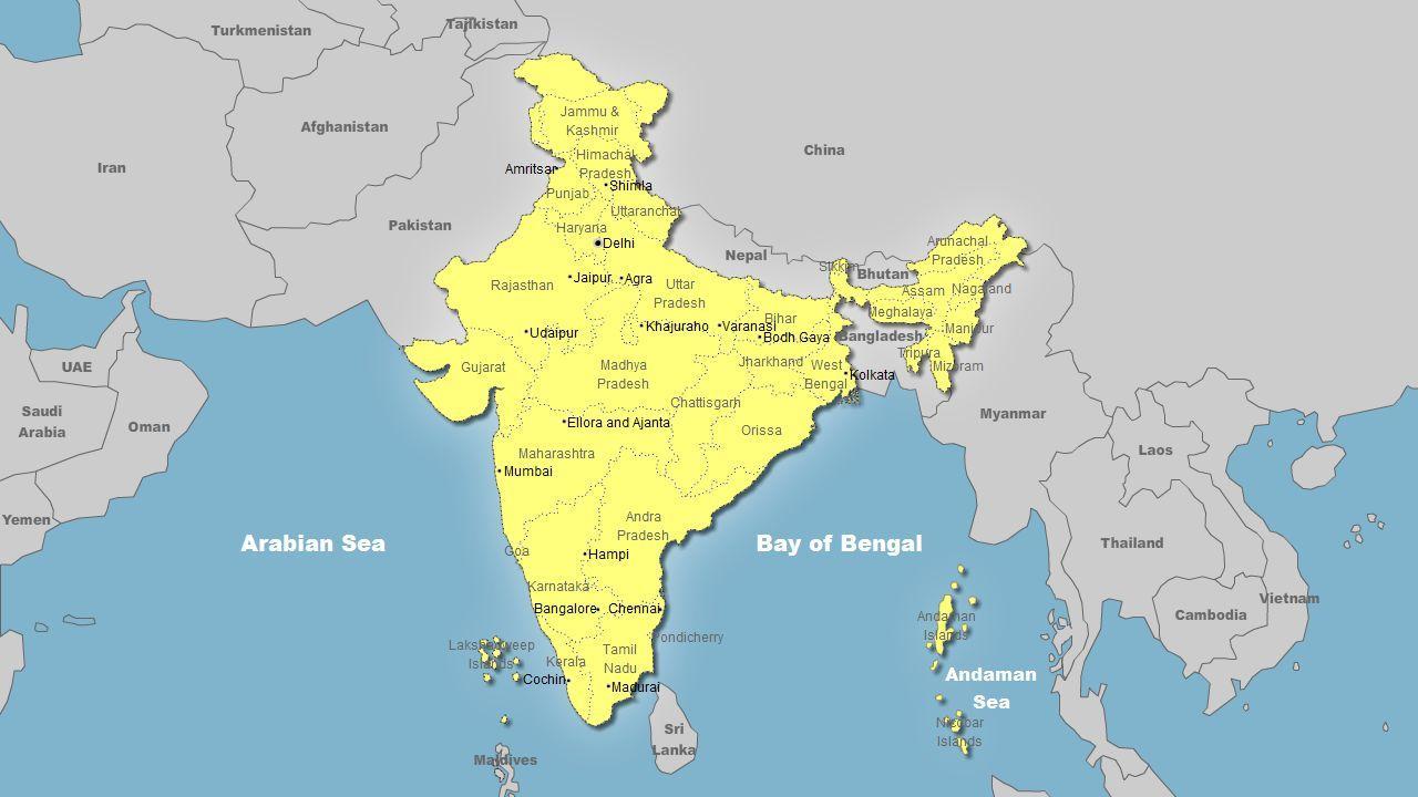 Mapa De La India En El Mundo.La India Mapa Del Mundo India En El Mapa Del Mundo En El