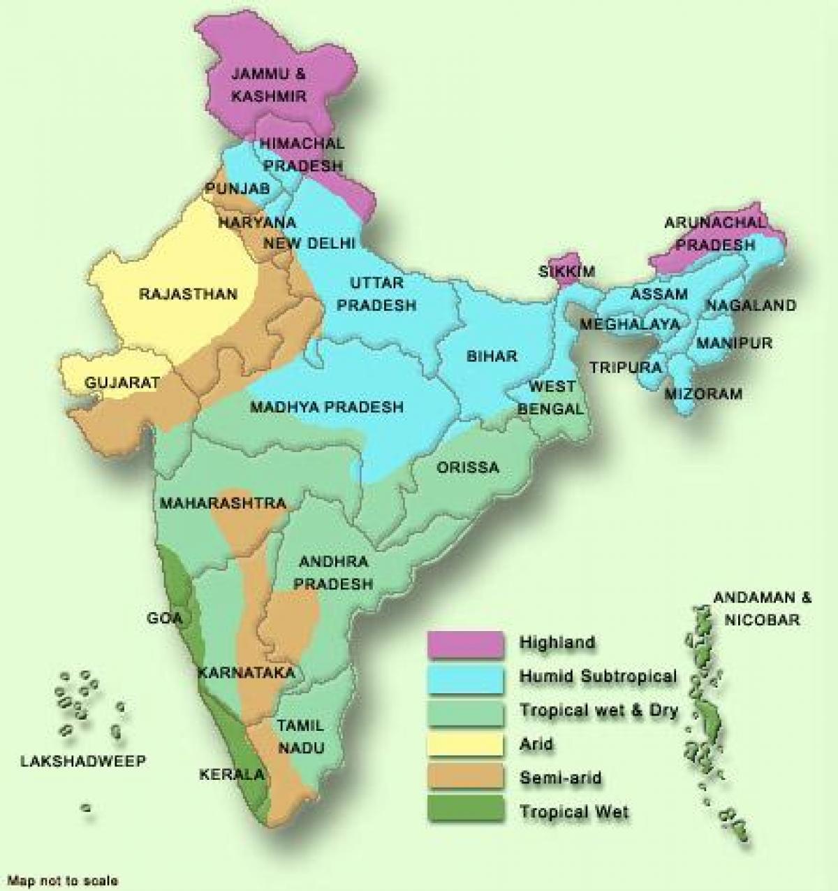 La india mapa del tiempo clima en la india mapa en el sur de asia asia - Tiempo en pakistan ...